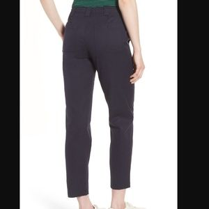 Nordstrom Signature Navy Stretch Ankle Pants